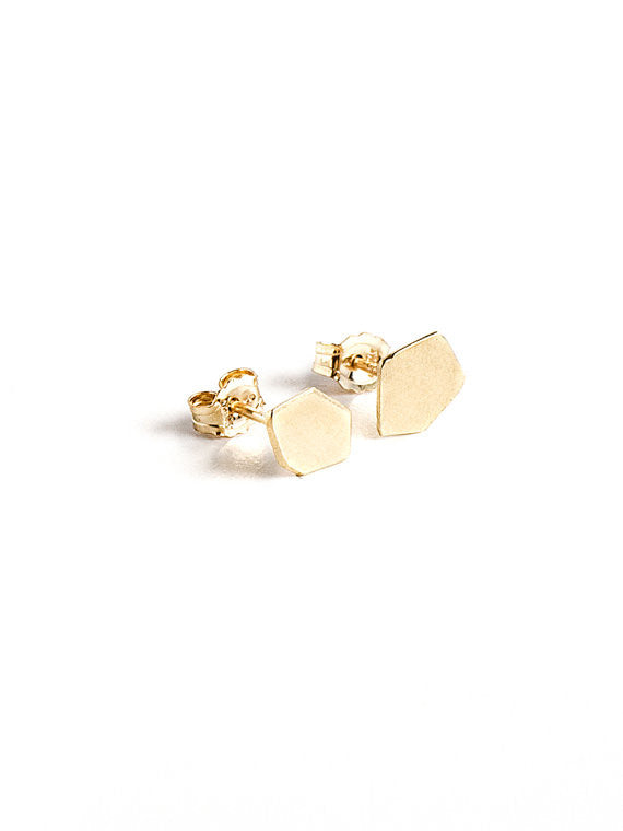 Nuggets Post Earrings / gold plated silver
