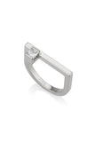Jordan Asymmetrical Princess cut diamond ring