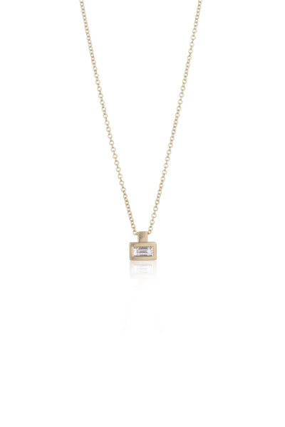 Lake Baguette Diamond Necklace