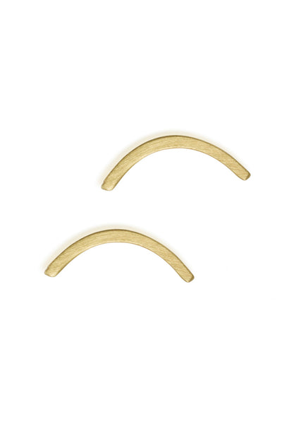 Large Arc Stud Earrings / Solid 14K Gold