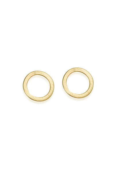 Large Circle Earrings / Solid 14K Gold