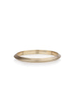 Lia Ring knife edge wedding band
