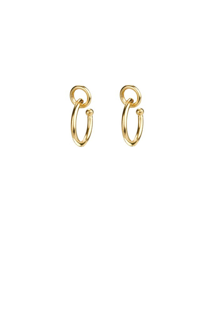 Mini Tami earrings / gold plated silver