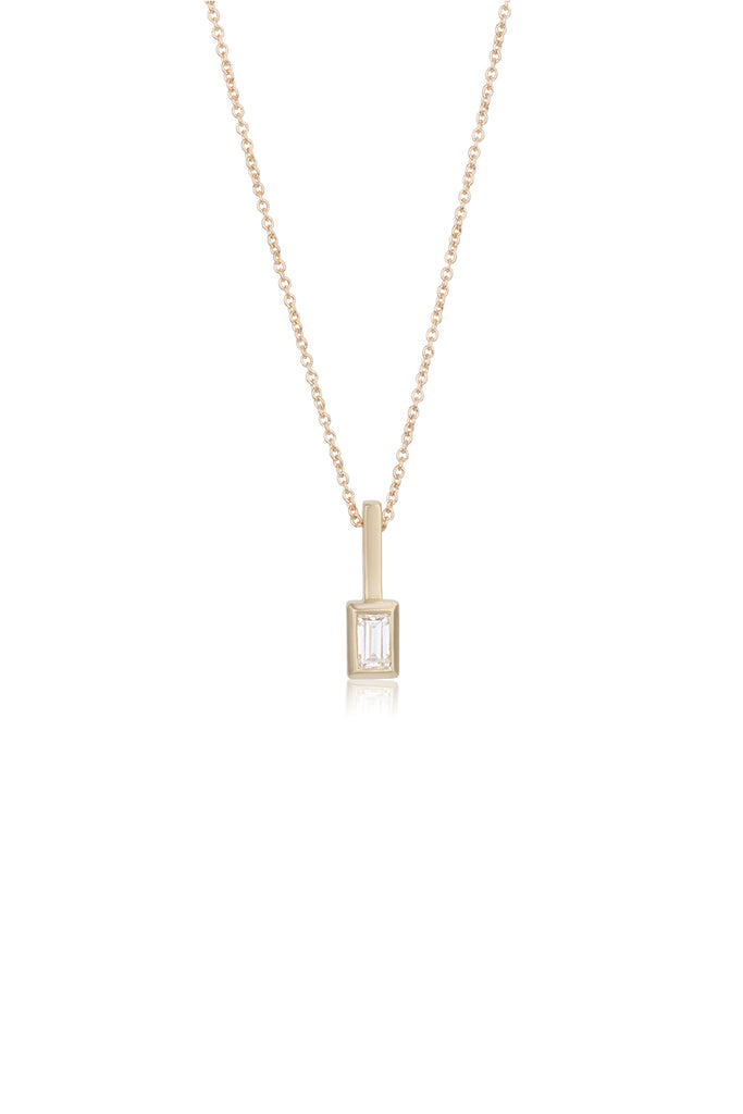 Roxanne baguette cut Moissanite necklace
