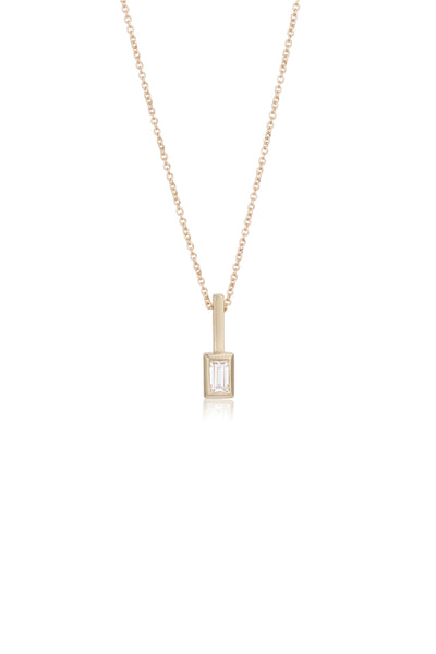 Roxanne baguette cut diamond necklace