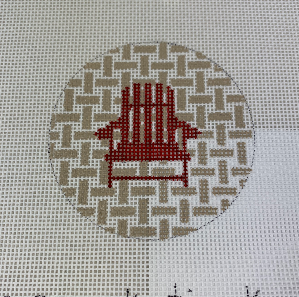 Kristine Kingston Designs KKNTO-5 Chair on Checks Red