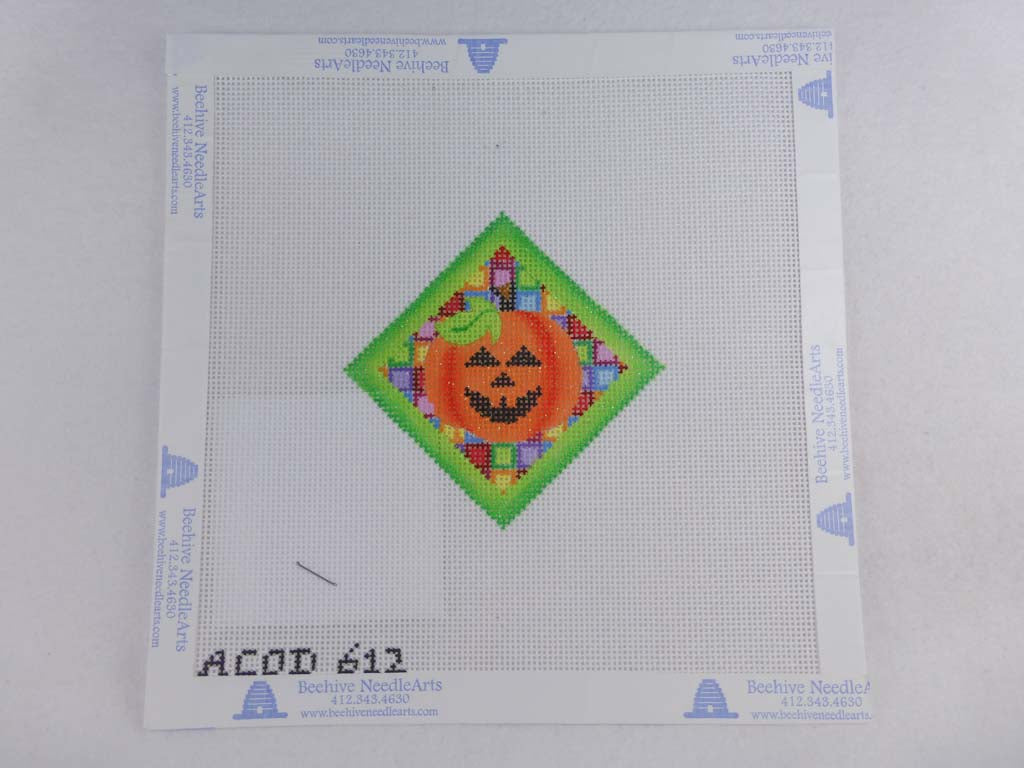 A Collection of Designs 612 Green Boarder Pumpkin