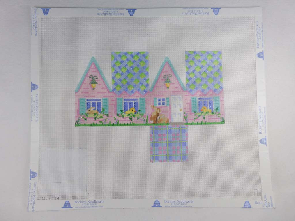 Associated Talents HH101 Easter Cottage Blue Lattice