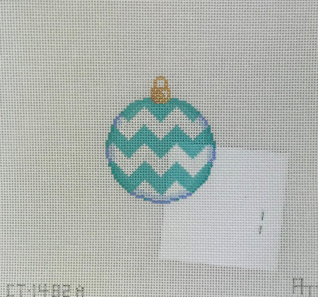 Associated Talents, Inc 113 Aqua Chevron Mini Ball