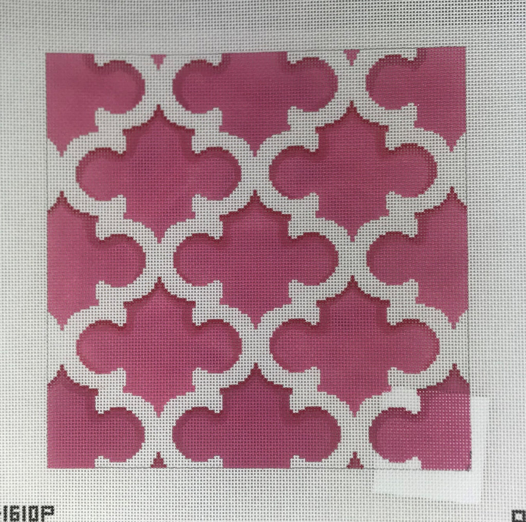 Associated Talents, Inc. D1610P Pink/White Quatrefoil