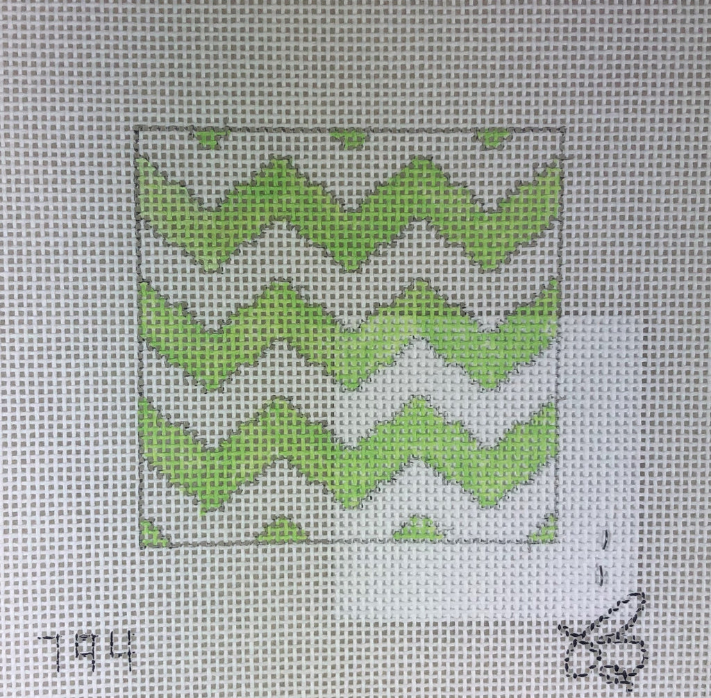 Beth Grantz Designs 120 794LW Chevron, Lime/White