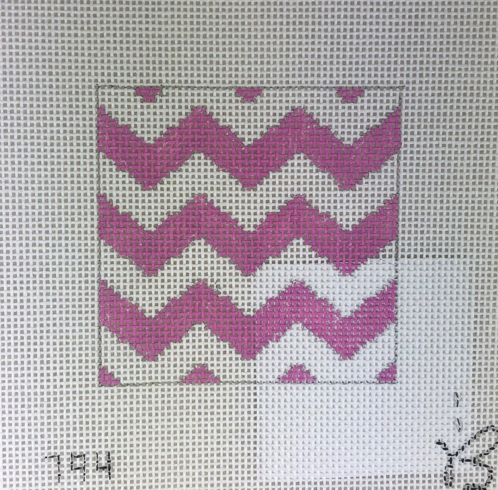 Beth Grantz Design 120 794PW Chevron, Pink/White