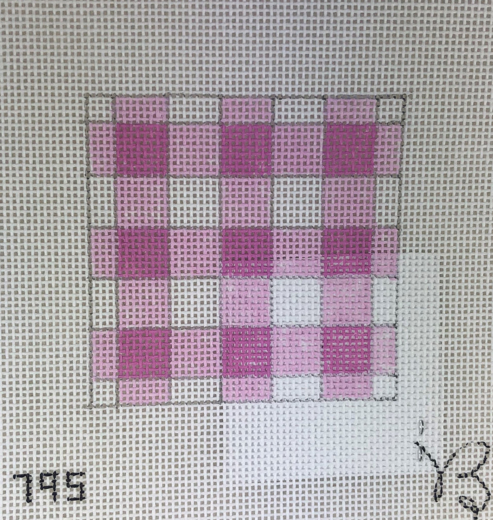 Beth Grantz Designs 120 795PW Gingham, Pink/White