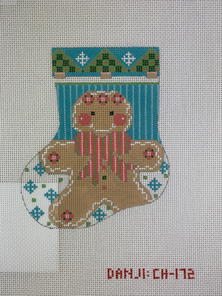 Danji Designs CH172 Gingerbread Girl Mini Stocking