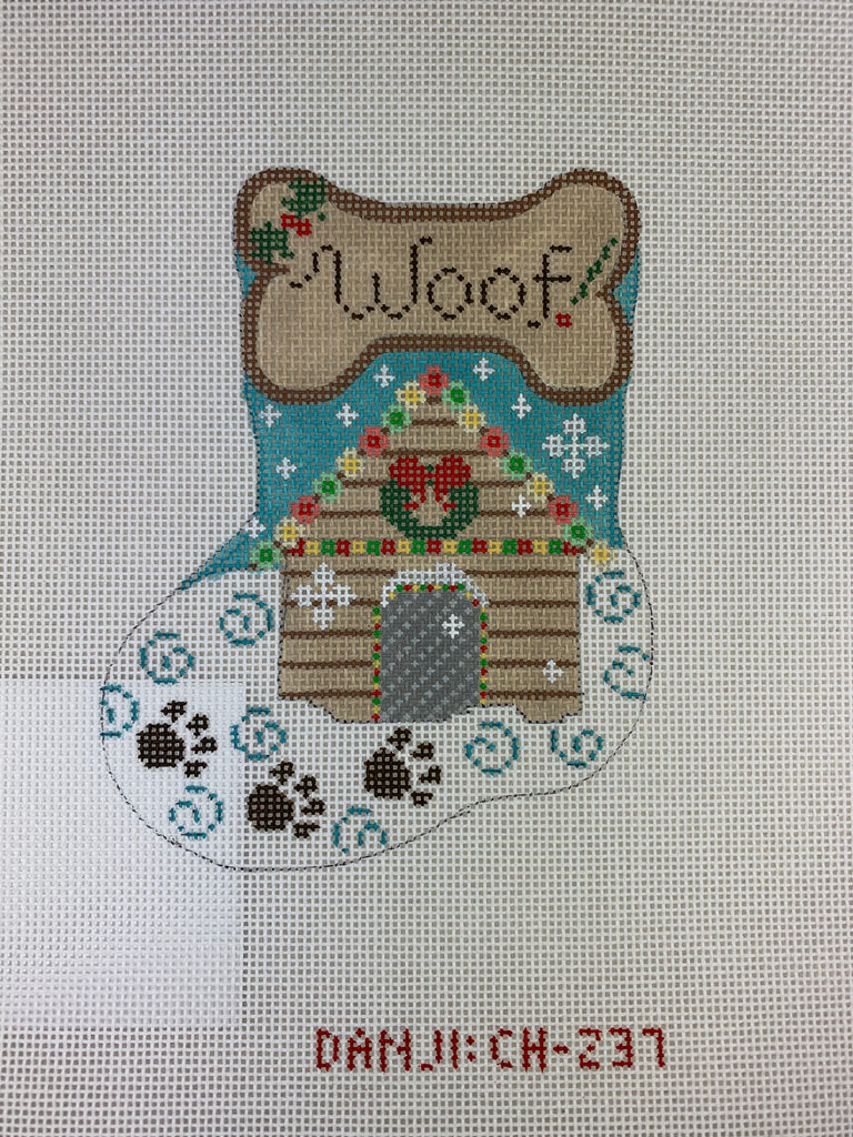 Danji Designs CH237 Woof Mini Stocking