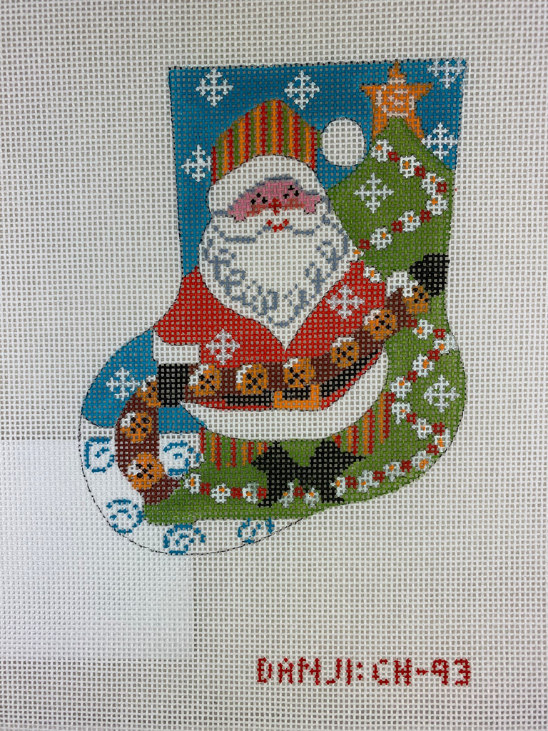 Danji Designs CH93 Jingle Bell Santa Mini Stocking