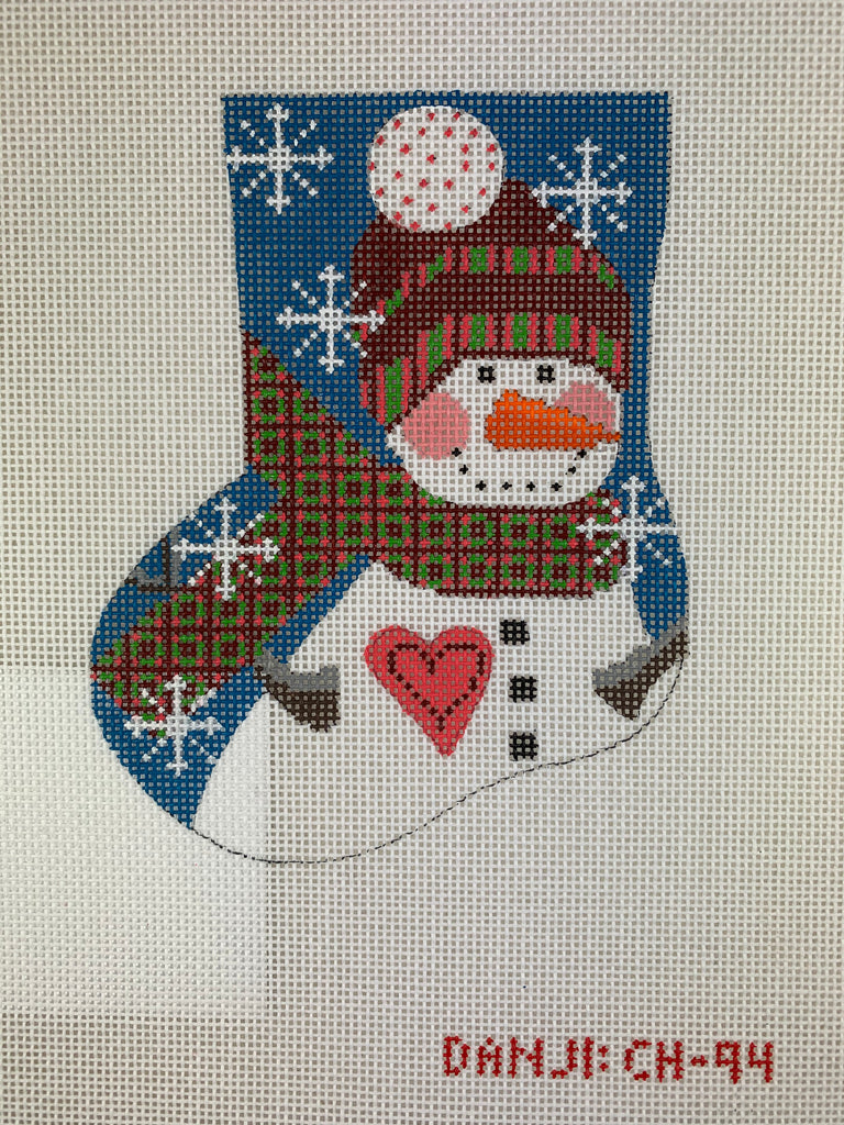 Danji Designs CH94 Snowman Mini Stocking