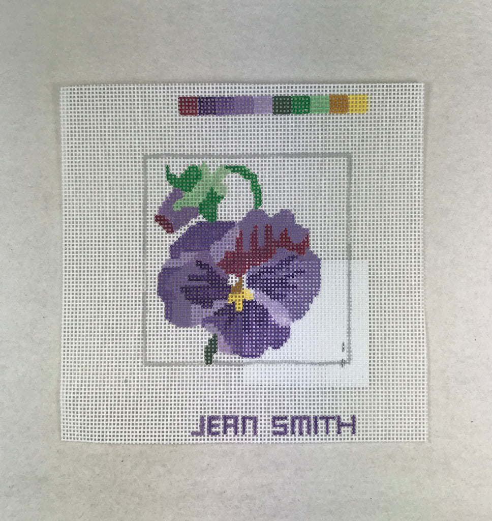 Jean Smith Design 198 1C-3 Pansy Coaster #3