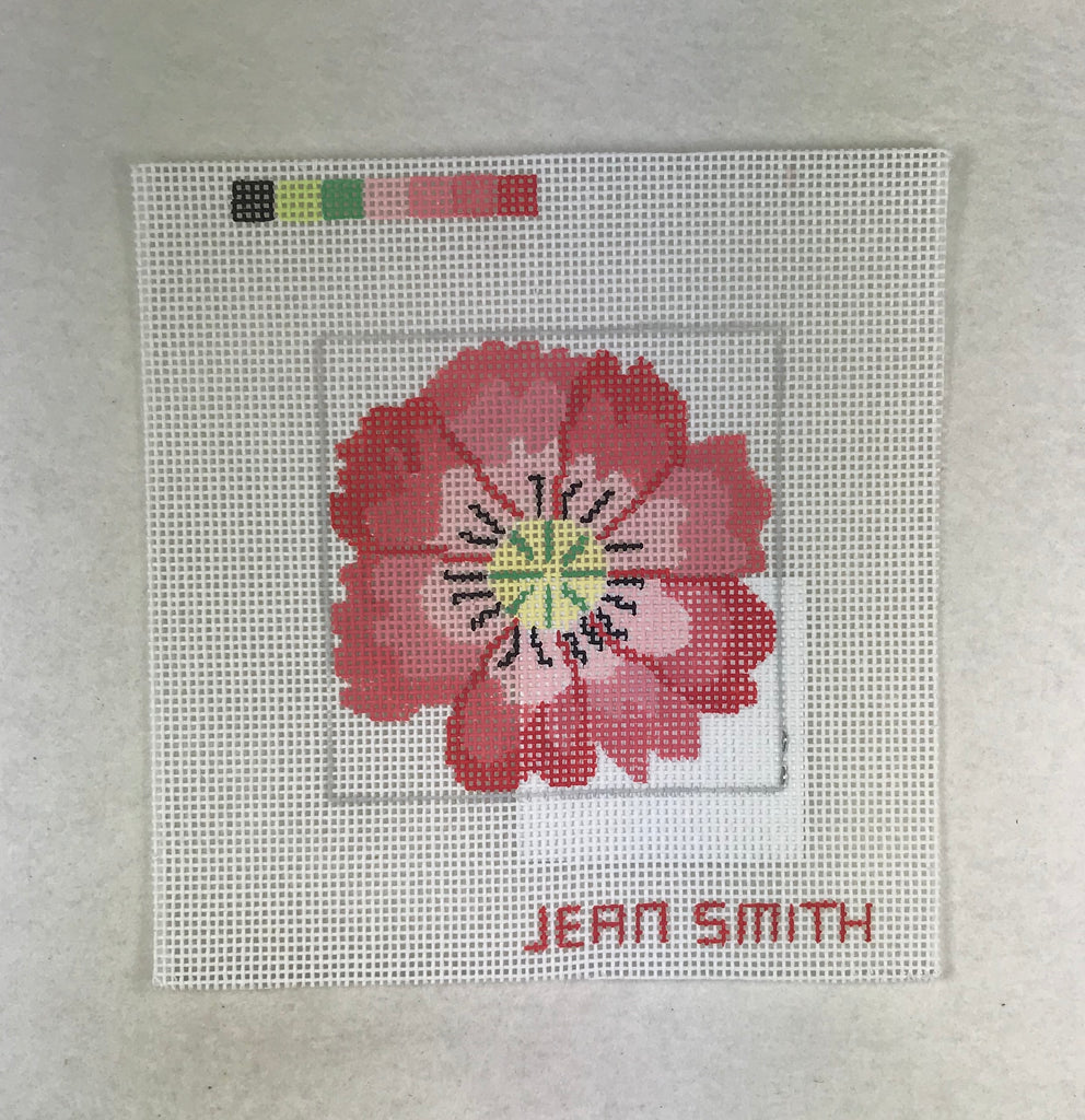 Jean Smith Design 53A-4 Coral Flower Coaster