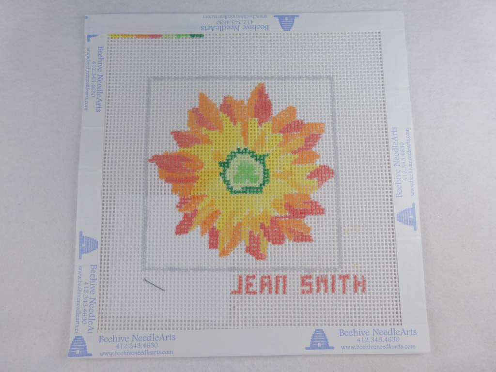 Jean Smith's Design 118C-1 Floral Friends Coaster 1