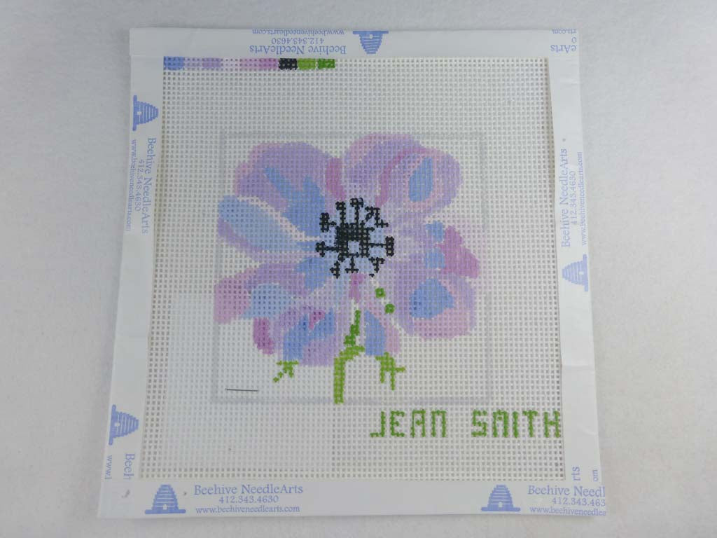 Jean Smith's Design 139A4 Purple Anemone