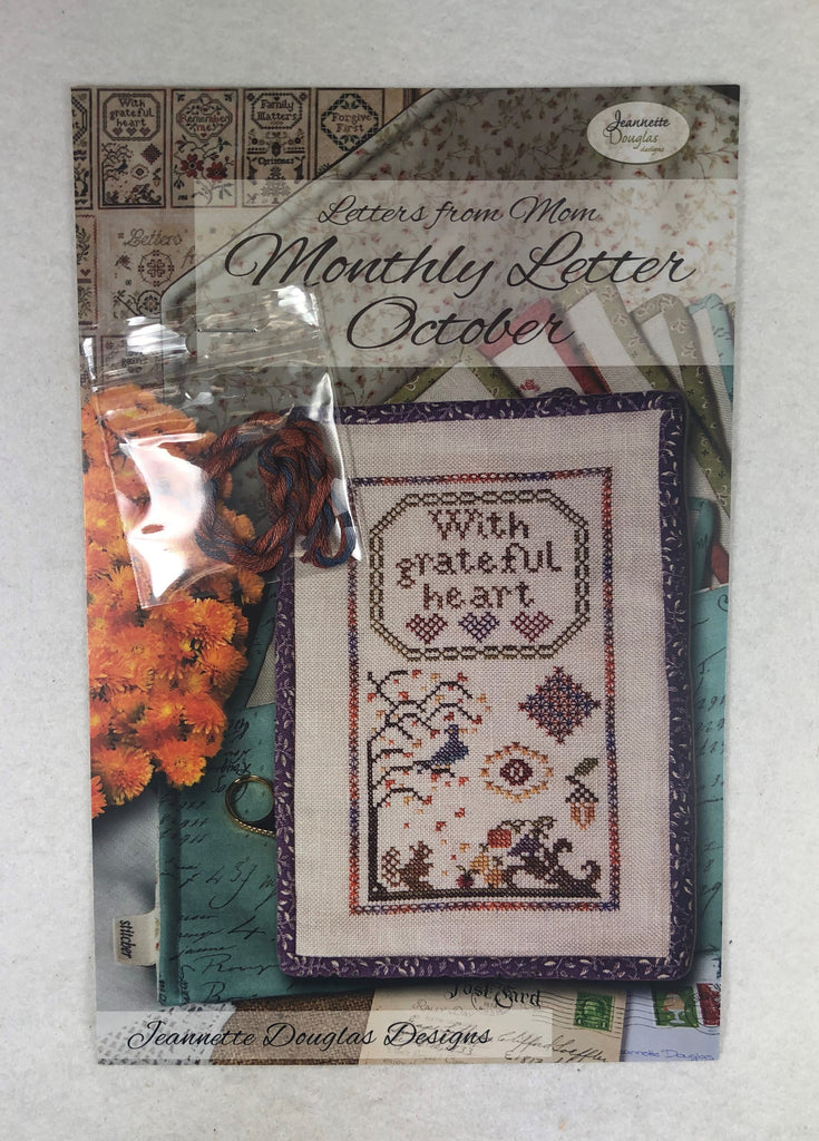 Jeannette Douglas Designs JD220 Monthly Letter October