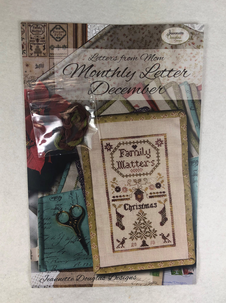 Jeannette Douglas Designs JD222 Monthly Letter December