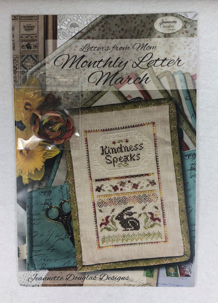 Jeannette Douglas Designs JD225 Monthly Letter March