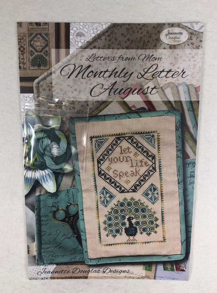 Jeannette Douglas Designs JD230 Monthly Letter August