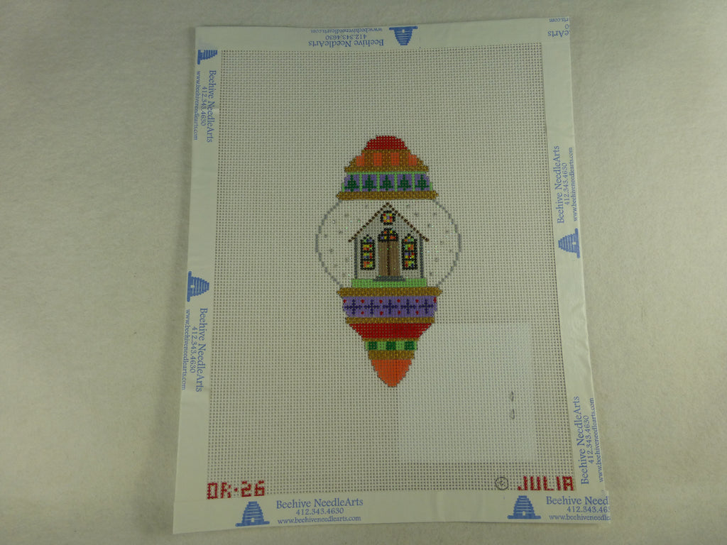 Julia's Needleworks OR26 Church Ornament