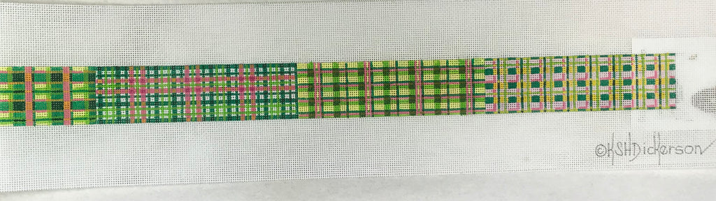 Kate Dickerson Needlepoint BL-03 Patchwork Belt Pink
