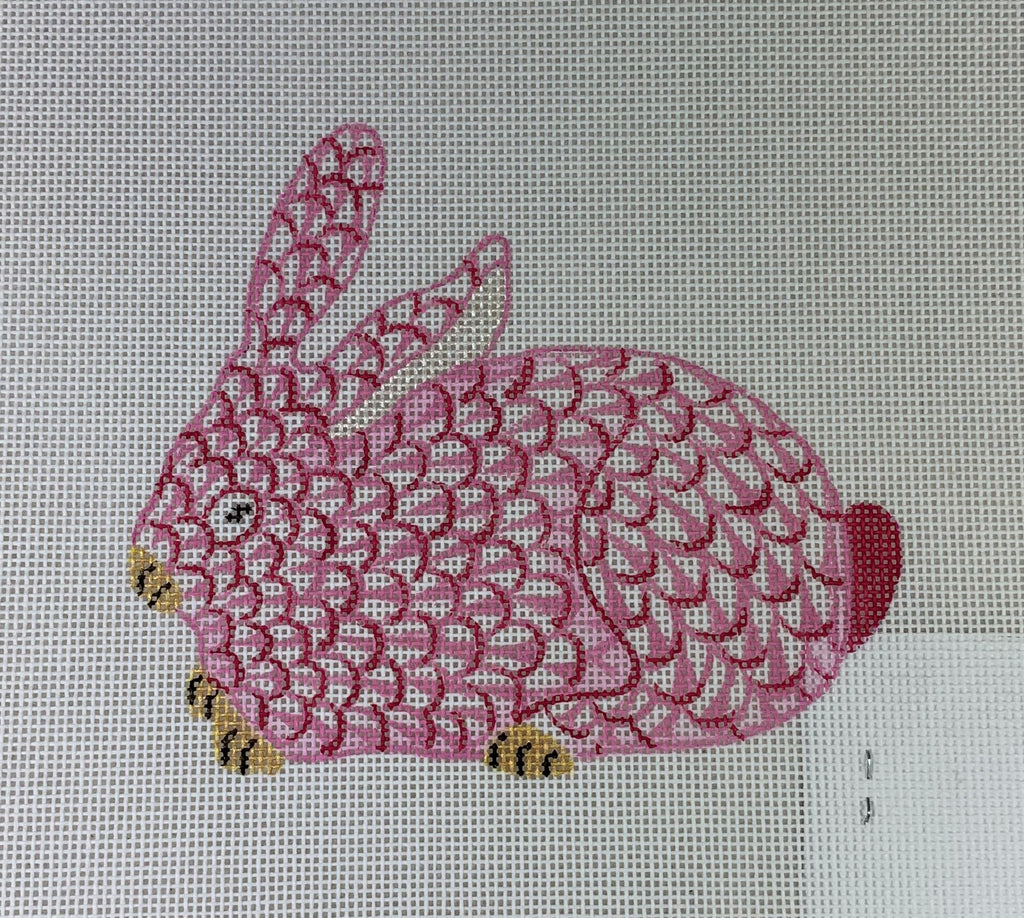 Kate Dickerson Needlepoint OM- 146 Crouching Bunny