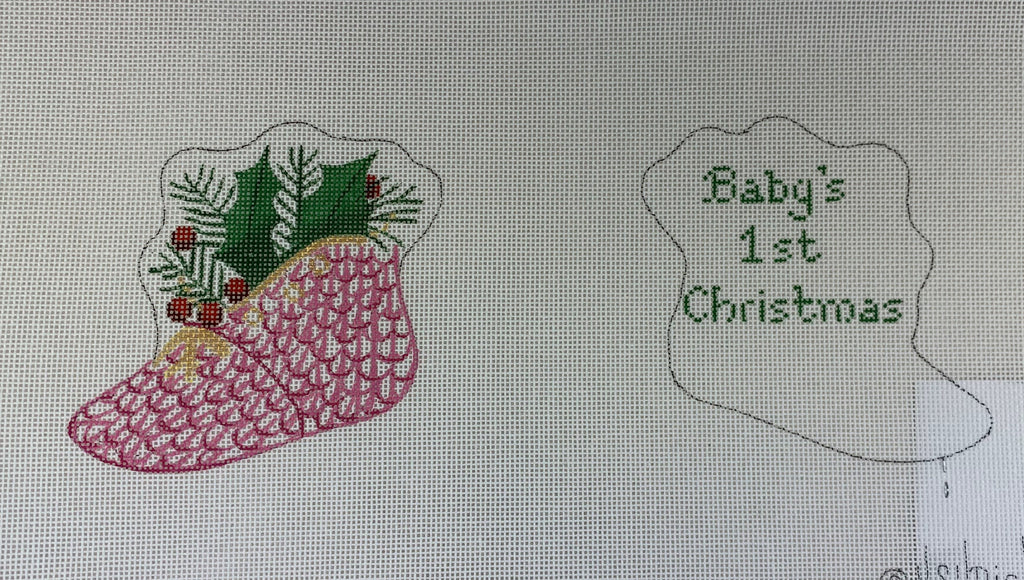 Kate Dickerson Needlepoint PL- 83 Baby Door Hanger