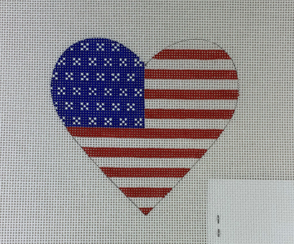 Kate Dickerson Needlepoint OM- 232 American Flag- Red, White, and Blue
