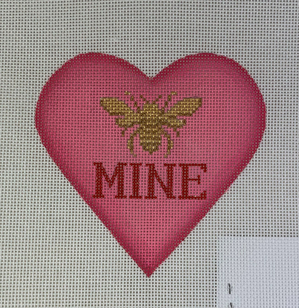Kate Dickerson Needlepoint OM- 256 Heart - Bee Mine