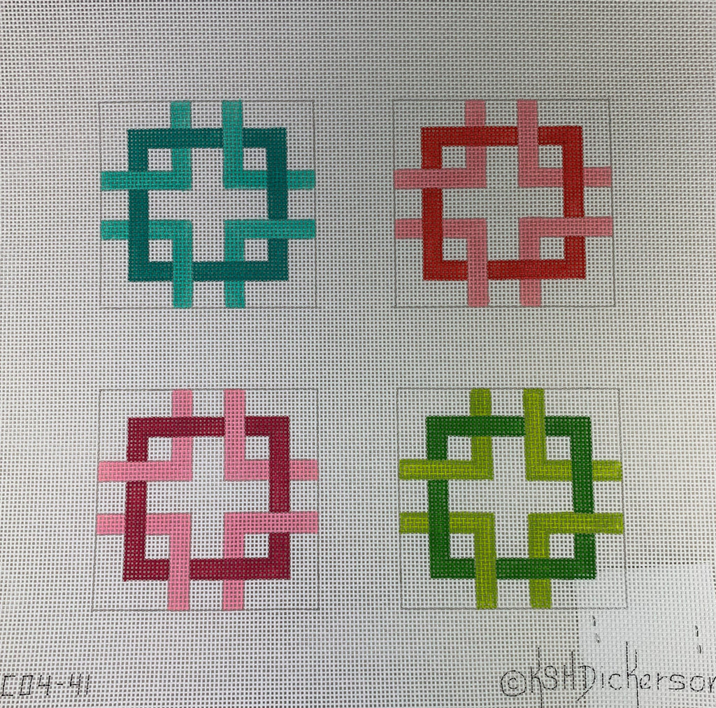 Kate Dickerson 214 Squares - Multi Brights