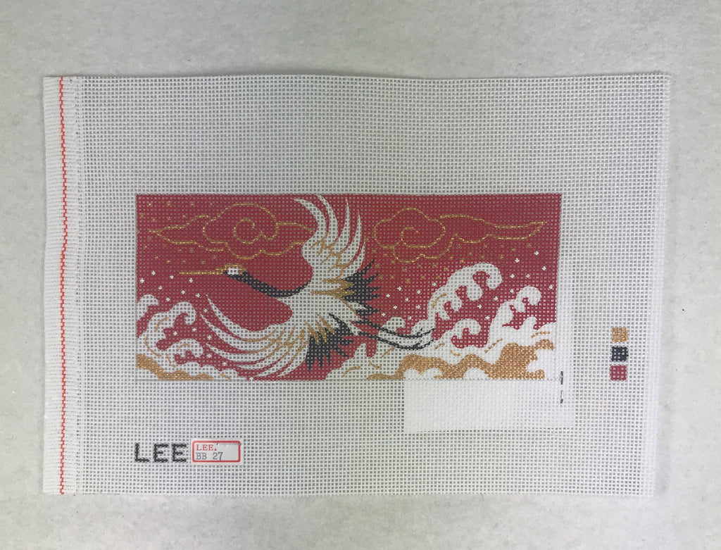 Lee's Needle Arts BB27 Crane on Red