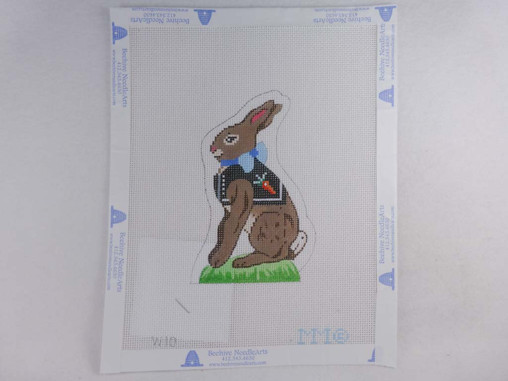 MM Designs Needlepoint W10 Brown Bunny