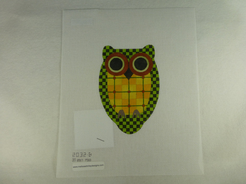 Melissa Shirley 2032B Plaid & Checkerboard Owl