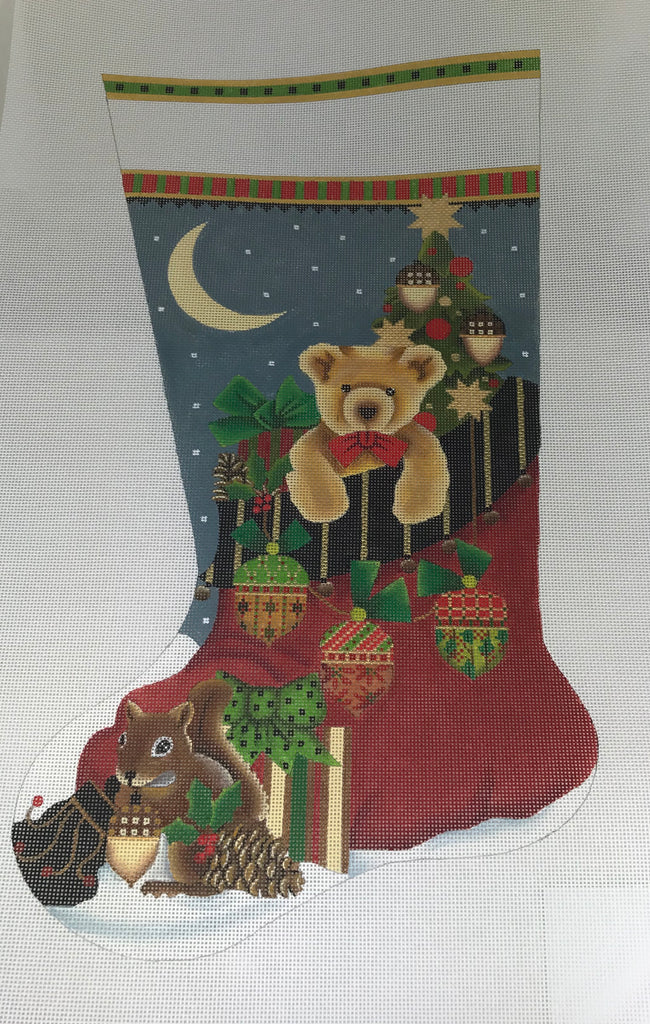 Melissa Shirley 2067 Acorn Santa Bag Stocking