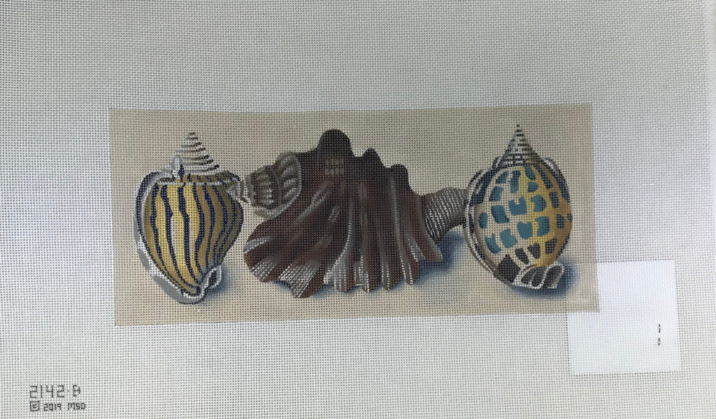 Melissa Shirley 2142-B Blue Stripes - Shells