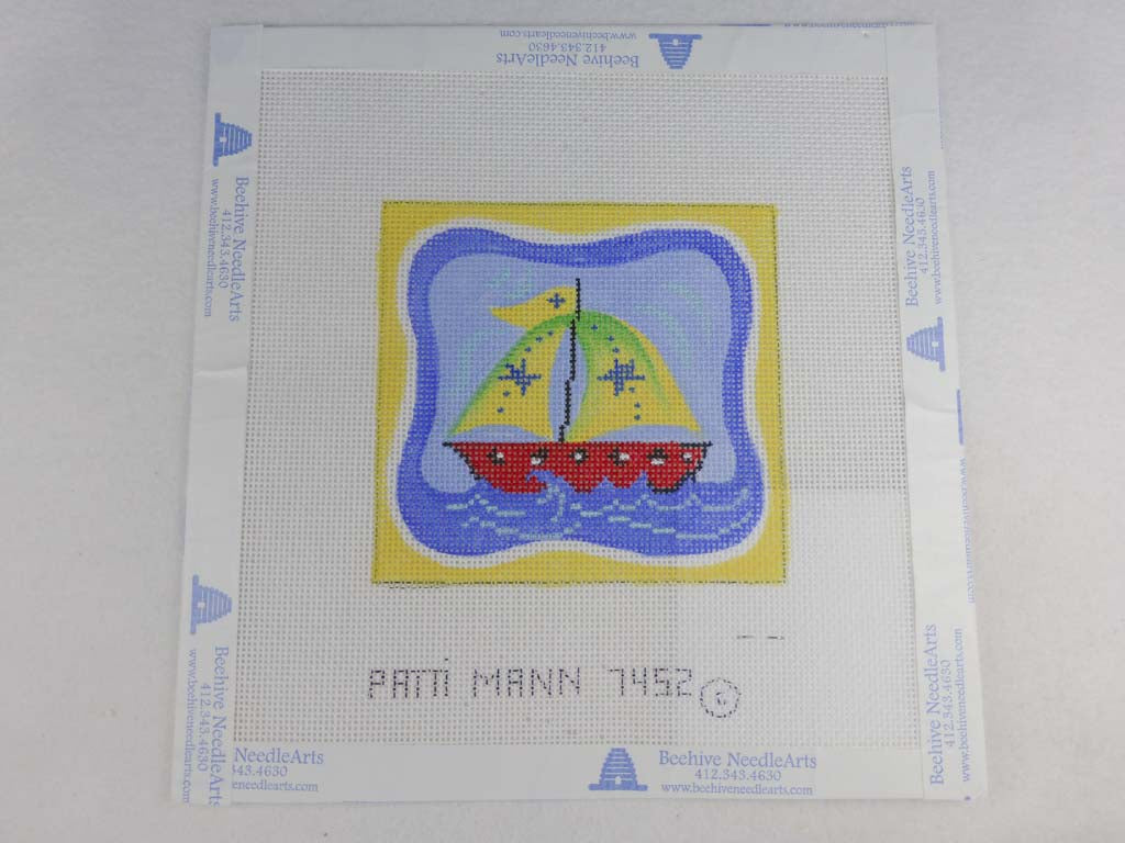 Patti Mann Designs 7452GB Mini Sailboat with Stars