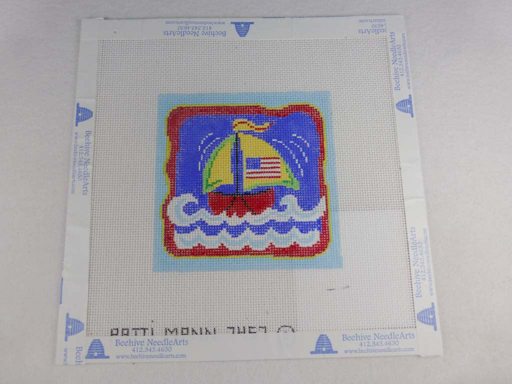 Patti Mann Designs 7457 Mini Sailboat with Flag