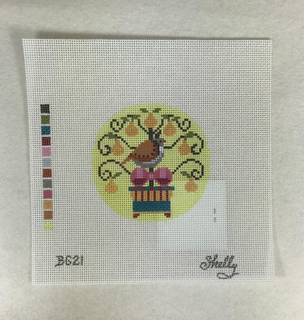 Shelly Tribbey hand painted needlepoint canvas Rosey Rabbit