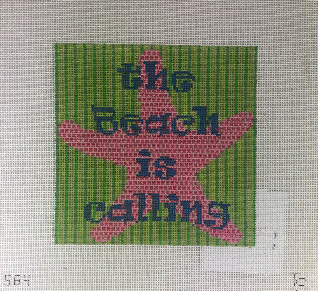 Two Sisters Needlepoint 563 Calling Saying