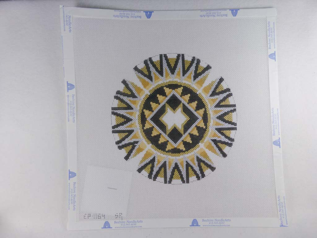 Susan Roberts Needlepoint Design, Inc. Star of David, Black, Gold