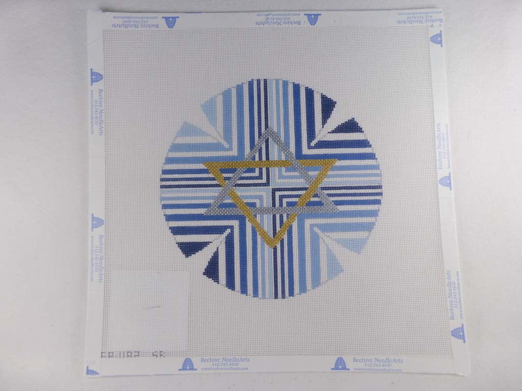 Susan Roberts Needlepoint Design, Inc. Blue Stripe with Star