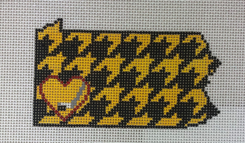 Kimberly Ann Needlepoint L5-PA Pittsburgh Houndstooth Hockey