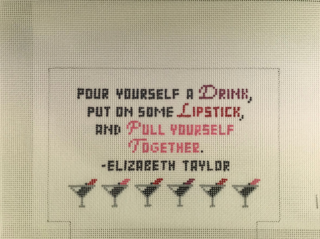 Kimberly Ann Needlepoint MB 08 Pour Yourself a Drink