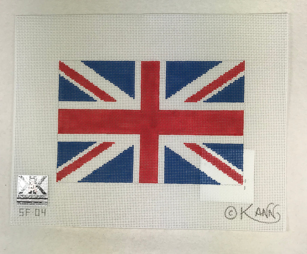 Kimberly Ann Needlepoint SF 04 Union Jack Flag